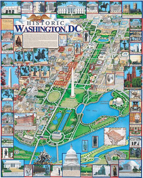 washington dc on a map washington dc by gaines monuments memorials