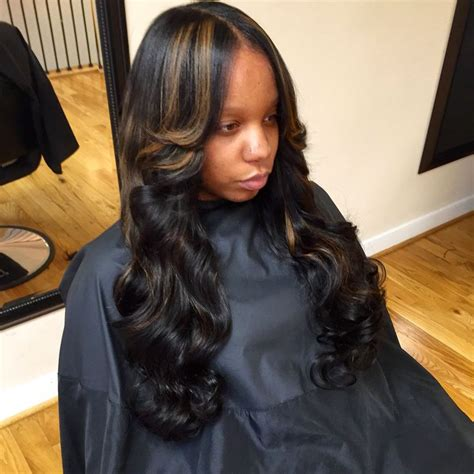 africans hair that sew in weave in montgomery alabama sew in with little leave out naturalhair virginhair