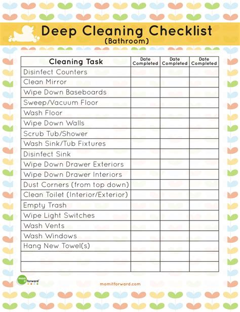 bathroom checklist cleaning list template search results calendar 2015
