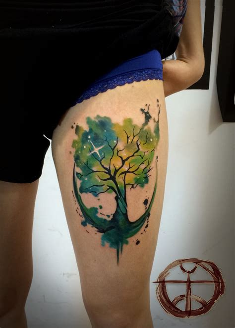 watercolor tattoos tree of life tree of by koraykaragozler on deviantart