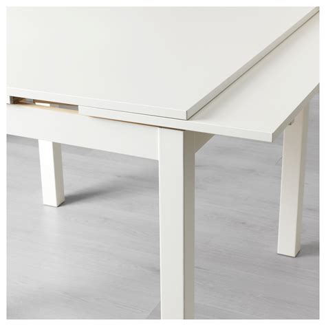 tavolo bjursta bjursta extendable table white 90 129 168x90 cm ikea