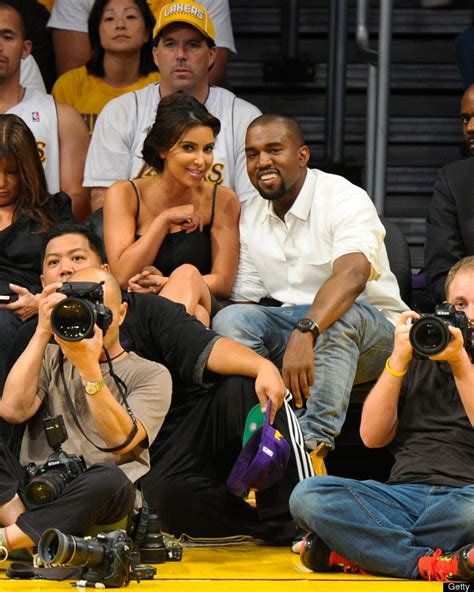 12 Basketball Fans Couples Edition by Kanye West Attend Lakers In Los