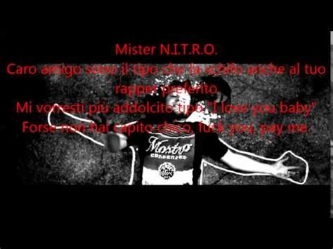 nitro back again testo back again nitro con testo rap testo