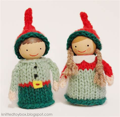 pattern for a christmas elf knitted toy box christmas elf pattern