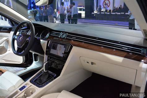 volkswagen passat 2015 interior 2015 vw passat showcased at das event in malaysia