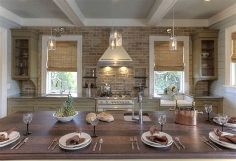 brick kitchens brick kitchen backsplash cottage kitchen herlong