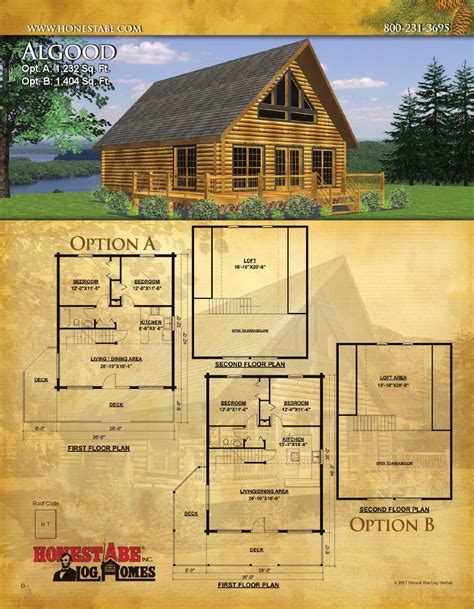 issuu honest abe log homes floor plan catalog by honest
