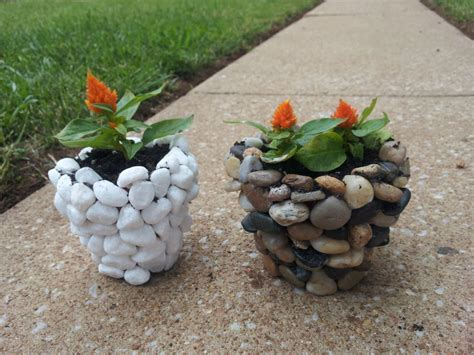 Rock Planters How To Make by Diy River Planter