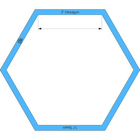 3 inch hexagon template hexagon 3 inch acrylic template i with 188 seam