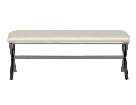 modern metal bench elegant contemporary metal x base bed bench for sale at
