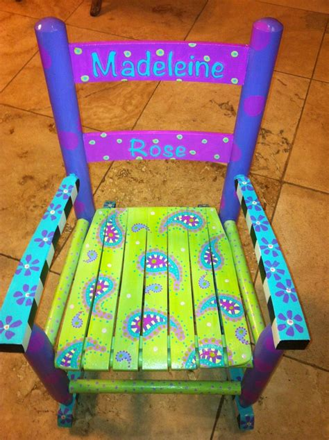Hand Painted Childrens Chairs Pin By Hanna Russell On For The Soul Pinterest