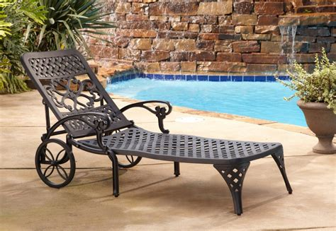 patio lounge chairs with wheels home styles biscayne outdoor chaise lounge chair with wheels