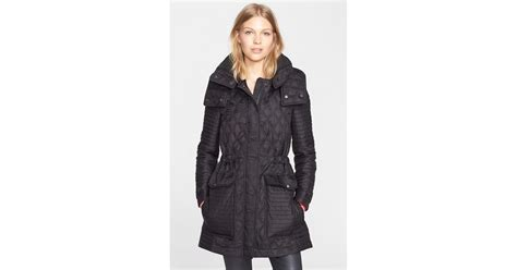 Quilted Coat With by Burberry Brit Bosdale Quilted Coat With Detachable In Black Lyst