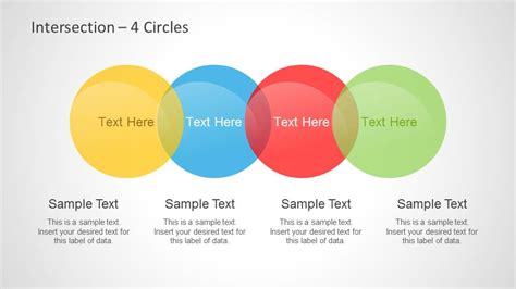 powerpoint venn diagram intersection color colorful intersected circles venn diagrams for
