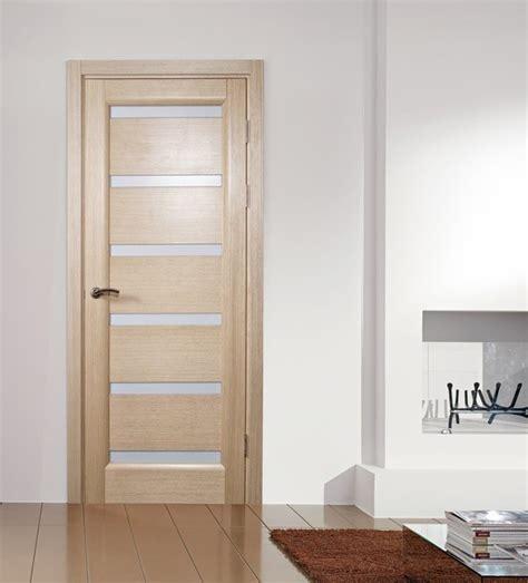 Soundproof Bedroom Door Tokyo White Oak Modern Interior Door With Frosted Glass