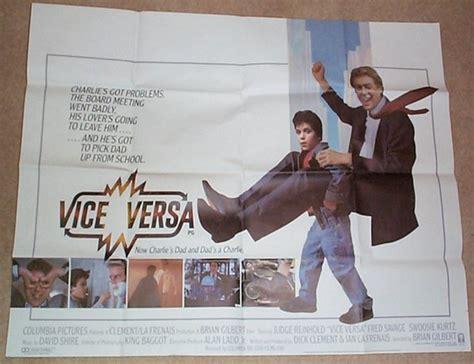 judge reinhold fred savage movie vice versa 1988 original quad film poster judge