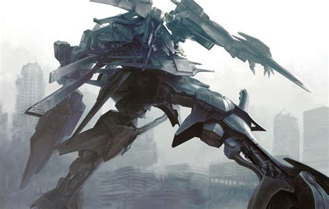 anime mecha anime armored core artwork fantasy art mecha robots