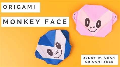 origami 3d monkey tutorial chinese new year lunar new year crafts origami monkey