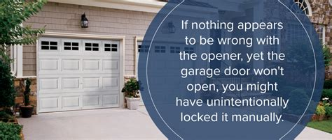 Reasons Why Your Garage Door Won T Open Or Close Marvin Garage Door Wont Open