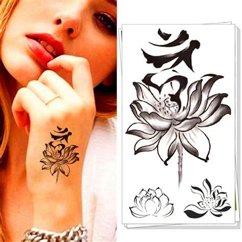 Hand Tattoo Aufkleber by Lotus Tattoo Kaufen Billiglotus Tattoo Partien Aus China