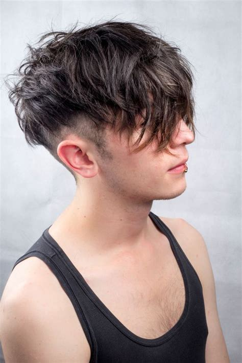 how to style boys wiry hair messy undercut men s hair textured natural black