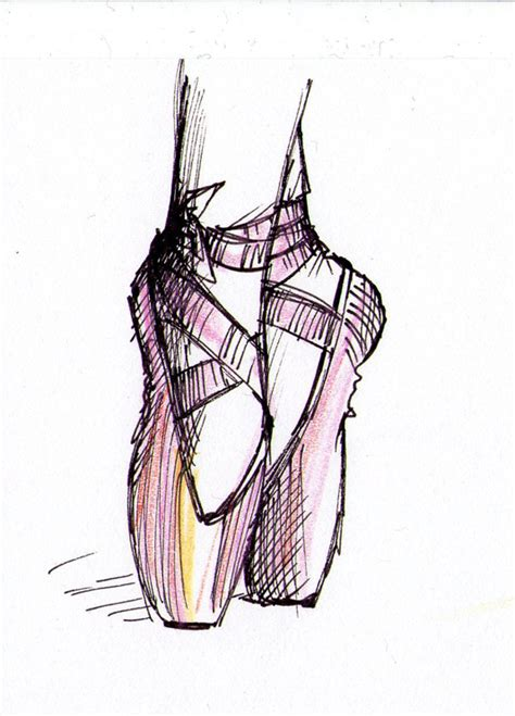 how to draw ballet slippers ballet shoes drawing the daily doodles of kitteh