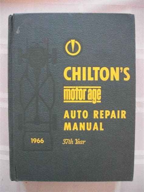 motors auto repair manual shop service book 1959 1966 ebay buy original 1958 1966 chilton s auto repair manual shop service book like motor s motorcycle
