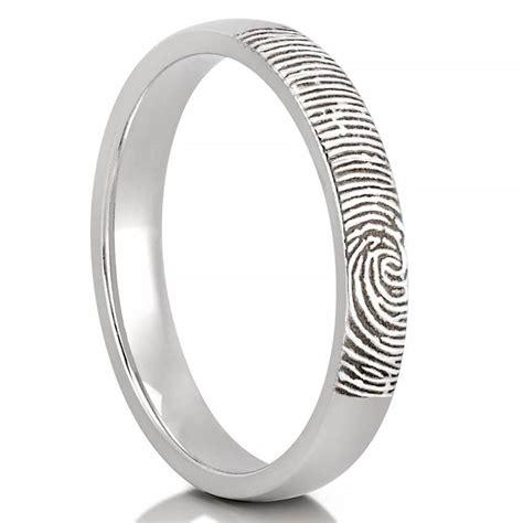 fingerprint wedding band s fingerprint on outside