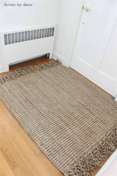 burlap rug diy diy resized jute rug from standard to custom driven by decor