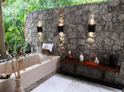 outdoor bathrooms ideas creative designs home bathrooms house design and