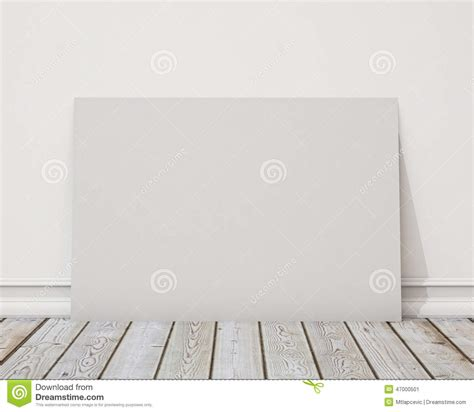 backdrop design mockup mock up blank horizontal poster on the white wall and the