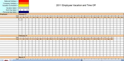 employee vacation tracking calendar template vacation calendar schedule template