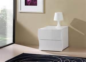 meuble chevet design table de chevet laque blanc
