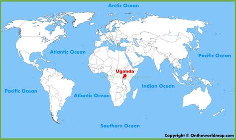 uganda on world map uganda location on the world map