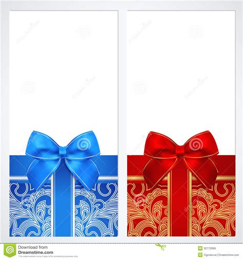 design background gift free download voucher gift certificate coupon template box stock