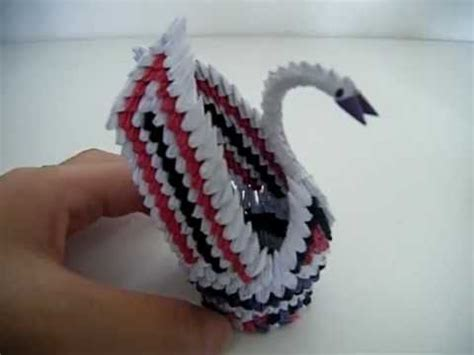 Origami Swan With Wings - 3d origami mini swan with wings