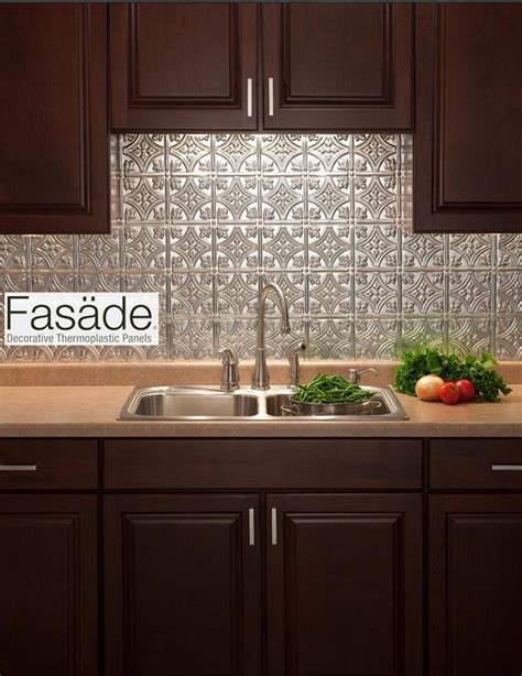 easy to install backsplashes for kitchens quot fasade quot backsplash and easy to install great for a new look for renters who
