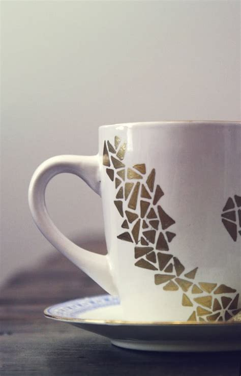 Decorate A Coffee Mug by Decorate Your Own Coffee Mug With A Gold Sharpie Paint Pen