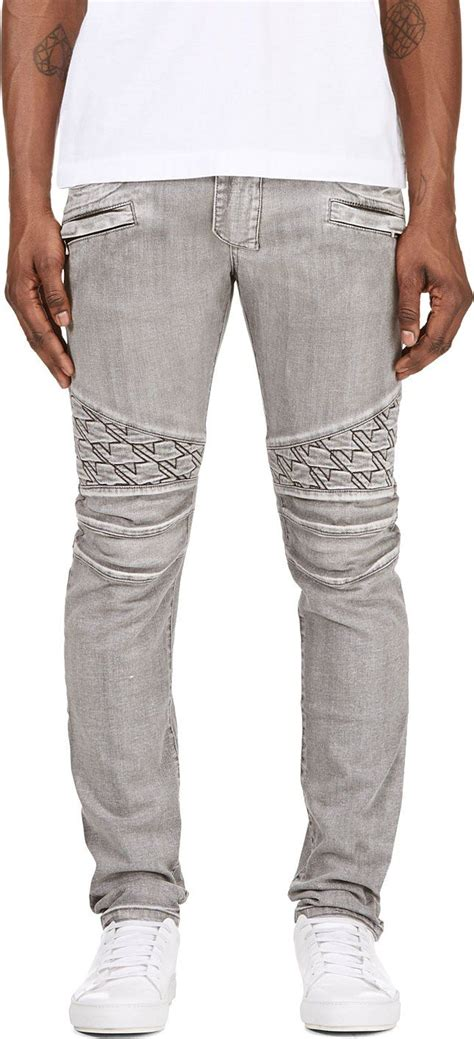 grey patterned skinny jeans black superskinny guy jeans indigo patchwork and balmain
