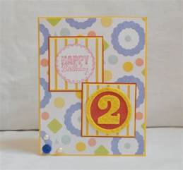 birthday card for 2 year paper handmade greeting card 2nd birthday for him for