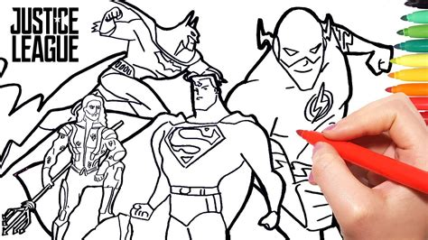 color of justice justice league coloring pages how to draw superman