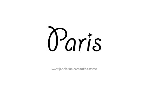 paris name tattoo designs