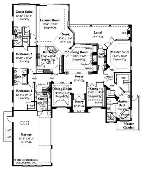 mediterranean style house plan 5 beds 3 baths 3036 sq ft mediterranean style house plan 4 beds 3 5 baths 3433 sq
