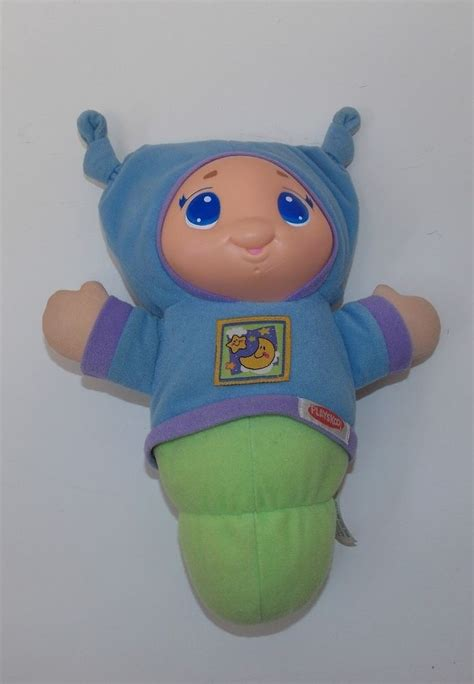 crib light up toy playskool hasbro 2005 lullaby gloworm glo glow worm light