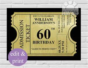 60th birthday invitation templates 60th birthday invitations gangcraft net