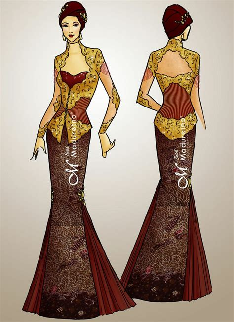 Dress Batik Dan Rompi 30 best kebaya images on kebaya dress kebaya brokat and lace dresses