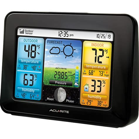 acurite color weather station acurite 02077rm wireless color weather station acurite