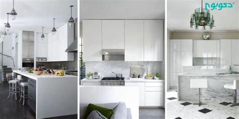 kitchen small white trends with beautiful modern gloss cabinets images tv unit entertainment کابینت های سفید و مدرن در دکوراسیون داخلی آشپزخانه دکوراسیون داخلی دکوبوم