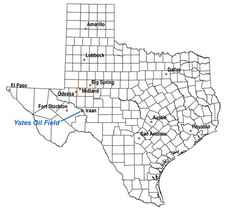map of texas fields yates field