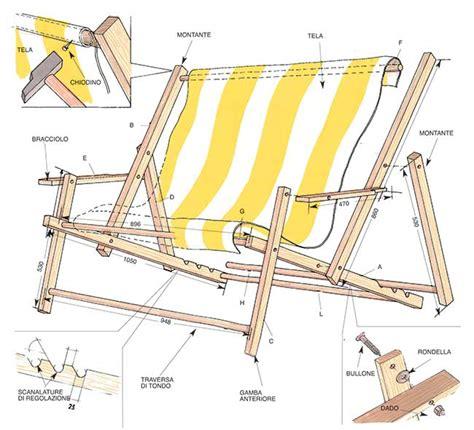 sedie sdraio brico sdraio in legno fai da te progetto completo
